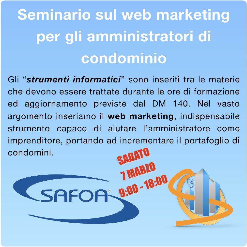 Web marketing per gli amministratori di condominio - Safoa
